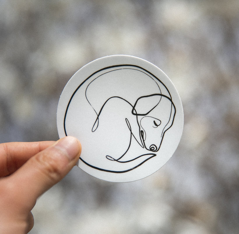 One Line dog art provided by Stickermule by With One Line